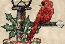 çarpı işi  ( kuşlar ) - el işi kuşlar