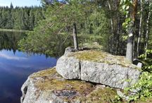 """Finnish nature / Have a wonderful vacation in nature surroundings with """"Rock and lake""""!"""