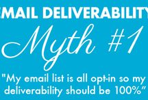 """7 Email Deliverability Myths / When it comes to email marketing, email deliverability in particular, there is a lot of misinformation floating around out there. Let us help you """"debunk"""" some of those myths."""