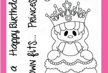 Pretty Princess / Clear stamp from pinkandmain.com