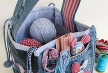 Recycled Jeans Items / Items made from recycled jeans and denim.