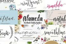 Fonts and Typography for your site / Beautiful fonts and designs for your blog and website