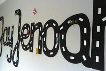 Muurschildering  / Muurschildering laten maken in mijn zoontjes kamer , van eigen ontwerp!