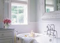 Cottage Bathroom / romantic homes, Cottage style, french vintage decor,