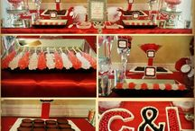 Red, White and Black Candy Buffet