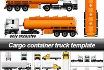 Cargo Vehicles Template Set