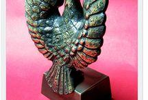 Statuette figures Mosiężne figurki / Różne figurki i statuetki odlane z mosiądzu polskie rękodzieło - Rzemiosło artystyczne DIY