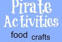 Alt med pirattema / Børn i alle aldre, børnehave, indskolingen, mellemtrin, udskolingen, børn med specielle behov.