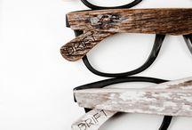 Drewno okulary zegarki
