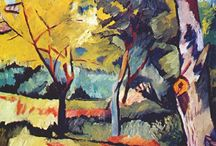 Rayonism / Краткосрочное, но важное направление абстрактной живописи, привлекшее к себе внимание в России в 1912 - 1914 годах благодаря работам Михаила Ларионова и Наталии Гончаровой. Их холсты запечатлевали не предметы, а лучи света, отражаемые этими предметами. Mikhail Larionov, Natalia Goncharova