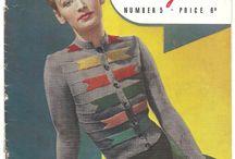 Vintage Knitting Patterns & Garments