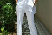 Costum alb 3 piese Fashion / Costum alb 3 piese Fashion Pantalon alb purtat cu sacou sau in combinatie cu o redingota mereu la moda!