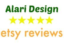 alari design etsy reviews / What my customers are saying about thier jewelry!