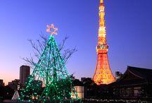 Tokyo Tower and Xmas Tree