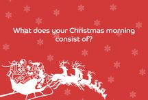 Festive questions! / A selection of the festive content we post on social media for our customers to interact with.