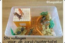 Ideeën voor in de klas / 50 manieren om je zand/watertafel te vullen