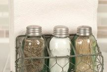 Salt and Pepper Sakers, Toothpick Holders, Napkin Holders / Mini Mason Jar Salt and Pepper Shakers, Salt and Pepper Shaker Caddys, Salt, Pepper and Toothpick Caddys, Napkin Holders, Salt Pepper and Napkin Holders, Salt Pepper Toothpick and Napkin Holders.