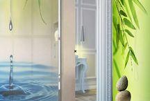 Vinilos decorativos para mamparas de baño