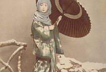 Japanese albumen & Vintage photography / Hand tinted Japanese albumen photography of the late 19th century and later primarily of ethnographic interest.   / by Shibui Japanese Antiques