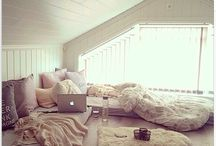Attic inspiration. / What to do with upstairs bedroom.