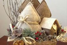 Casette di Natale con alberelli / Cestino