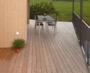 Novathermowood Pine Decking / TRADITIONAL BEAUTY   Being one of the most abundant species in the nature Pine is transformed into novawood decking with thermowood process to present you the most natural one in the best way. A natural look with its light tan colour and knotty texture, pine is highly preferred by nature lovers.