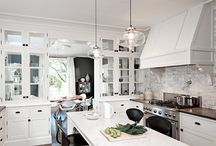 Kitchens / Kitchens Marble Tiles Lighting Splashback   / by Melinda Hartwright Interiors by Mel H