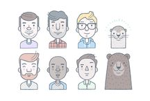 Flat Characters from Dribbble