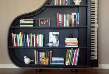piano reuse -book shelves
