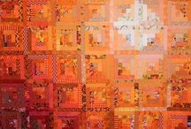 Log Cabin Quilts / All kinds of log cabin quilts - and improv quilts based on log cabins.