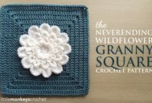 GRANNY SQUARES 6-FLOWERS
