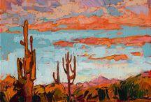 Cacti and Pink Skies