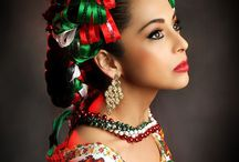 Ballet Folklorico / #BalletFolklorico is a symbol of the Beauty and cultural grace of #Mexico.  The colors, hair adorned with satin ribbons, and dresses that flow with the wind. A Collection of the #Fashion of Mexico.