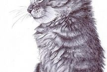 Chats ≧◠◡◠≦ Cats / Peintures - Illustrations - Sculptures ~~ Paintings - Illustrations - Sculptures