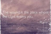 Ahhh, Rumi, how I adore you. / A collection, in honour of Rumi's simply profound ruminations.