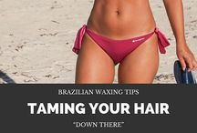 Hair Removal Tips and Tricks / Don't like looking all bushy down there? Check out our blog for some DIY Brazilian Waxing Tips. #Brazilianwaxingtips #NadsHairRemovalKit
