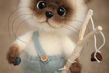 коты игрушки ручной работы