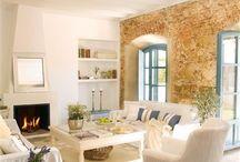Home Deco. Espacios interiores. Livingroom spaces / Diseño y Decoración de casas con encanto