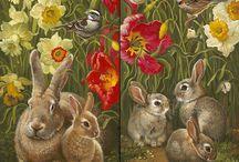 Кролики зайчики картинки