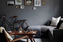 dark grey wall