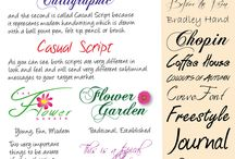 Fonts & Typefaces / Different styles of fonts and typefaces
