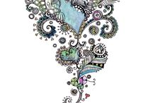 Doodles, Drawing and Multi Media / by Dizzy Bird Pottery Canada