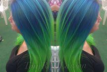 Haare-Bunt