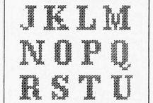 Alfabet / Kruissteek