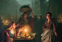 A glimpse | Petrus van Schendel (1806 - 1870)