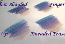 pastels and water color ideas ect