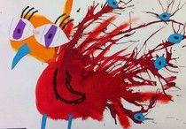 VLL kern 6 / thema: wat komt er uit een ei? Letters: g - ui - au - f - ei. Woorden: geit, pauw, duif, ei