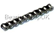 """Chain & Sprockets / We supply a great range of Chains, sprockets and links. From stock we hold chain sizes including 3/8"""" to 1"""" available in simplex, duplex or triplex in either meter lengths or 5 meter length boxes. Also available are connecting links and half links to suit. At BearingshopUK we offer both Pilot Bored and Taperlock type sprockets with a variety of tooth sizes, once again in simplex, duplex or triplex. We have also recently added our range of Simplex Platewheels ranging from 3/8""""-1"""" Pitch."""