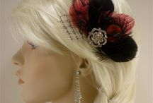 Bridal fascinators  / http://www.etsy.com/shop/IceGreenEyes