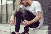 Mens with rock style